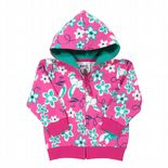 Kite Zip Through Hoody-Floral Bird